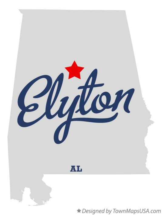 Map of Elyton Alabama AL