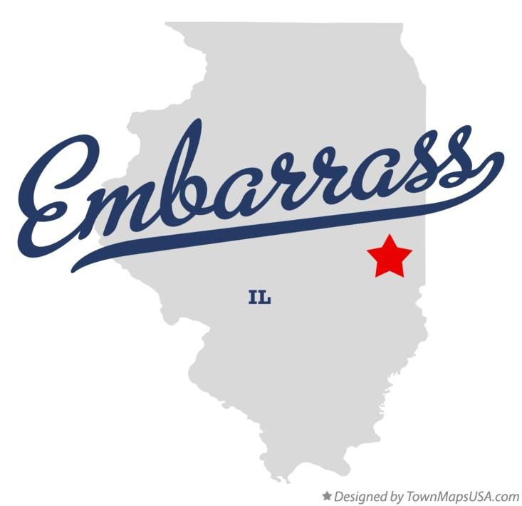 Map of Embarrass Illinois IL