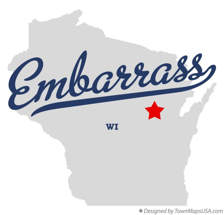 Map of Embarrass Wisconsin WI