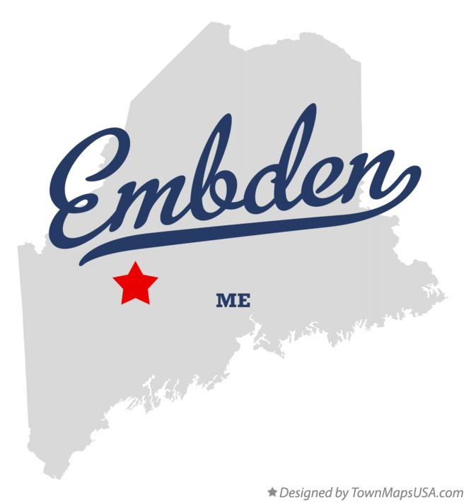 Map of Embden Maine ME