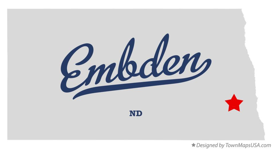 Map of Embden North Dakota ND