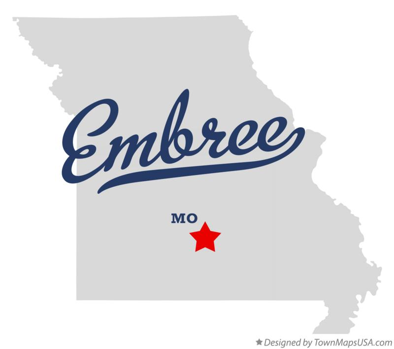 Map of Embree Missouri MO