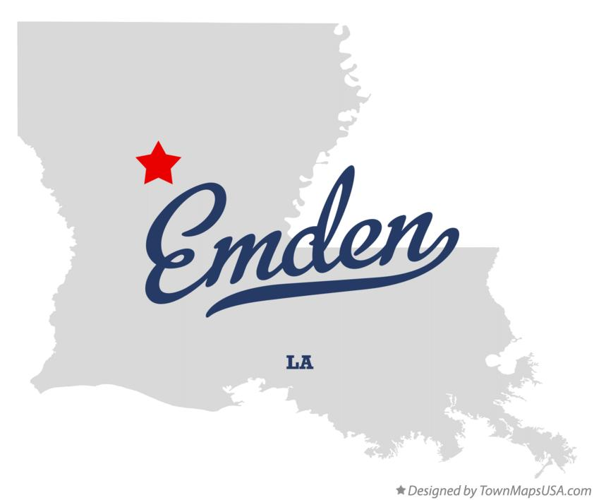 Map of Emden Louisiana LA