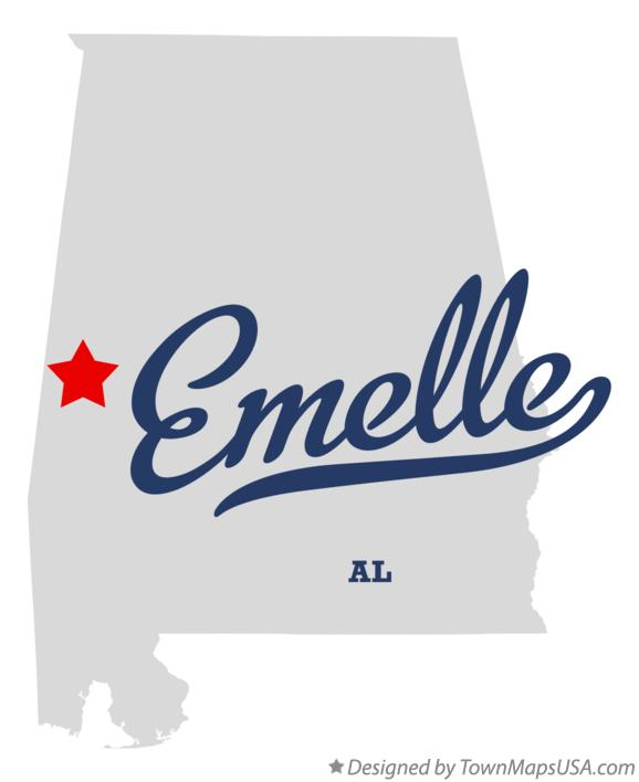 Map of Emelle Alabama AL
