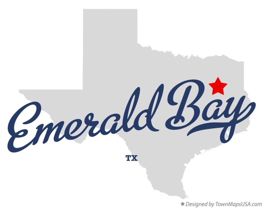 Map of Emerald Bay Texas TX