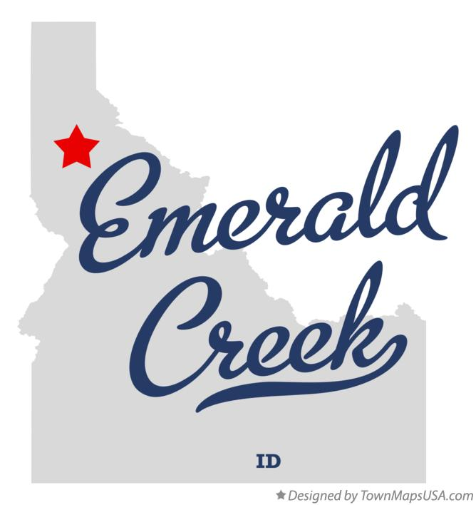 Map of Emerald Creek Idaho ID