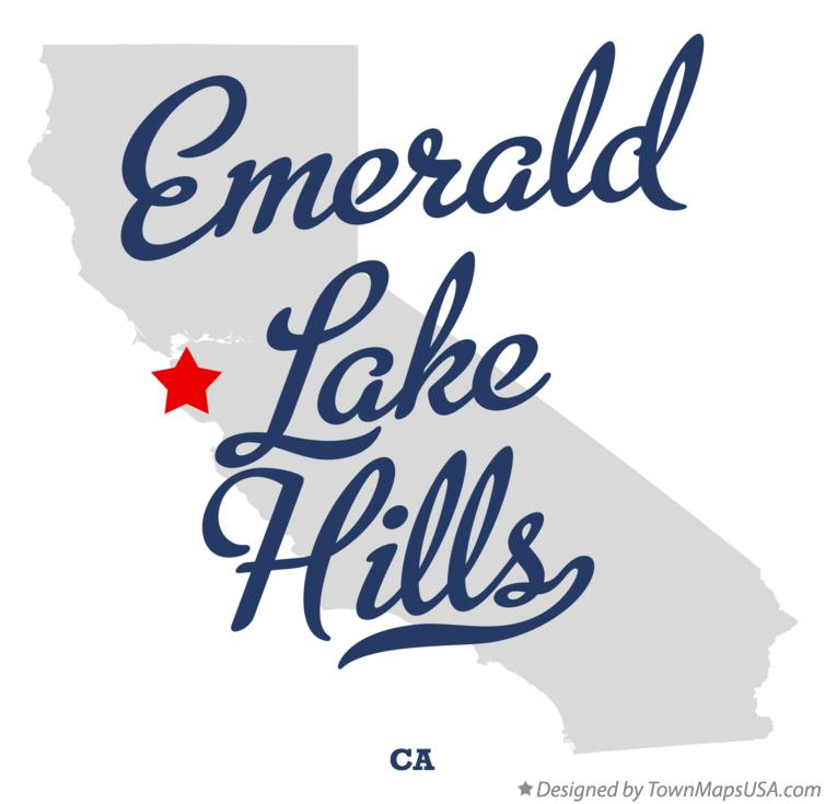 Map of Emerald Lake Hills California CA