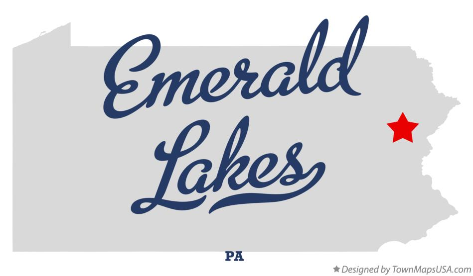 Map of Emerald Lakes Pennsylvania PA