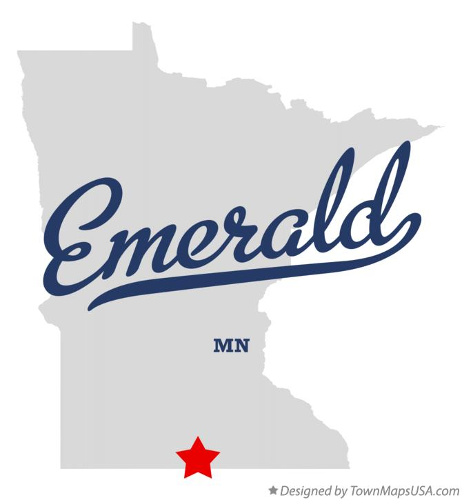 Map of Emerald Minnesota MN