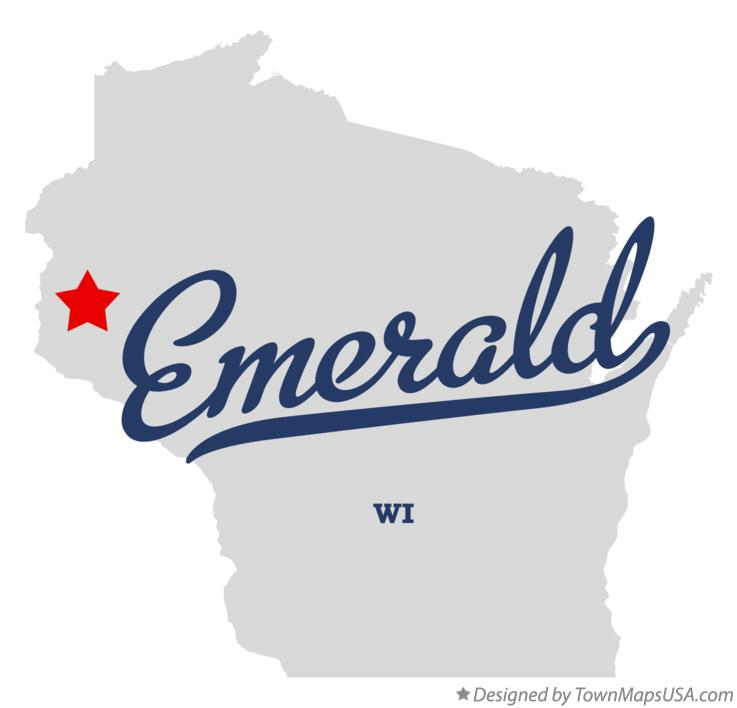 Map of Emerald Wisconsin WI