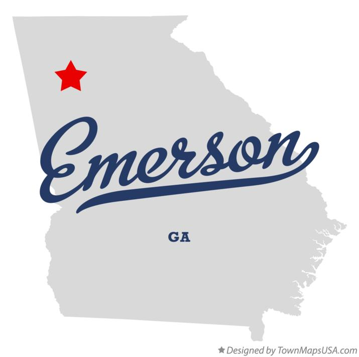 Map of Emerson Georgia GA