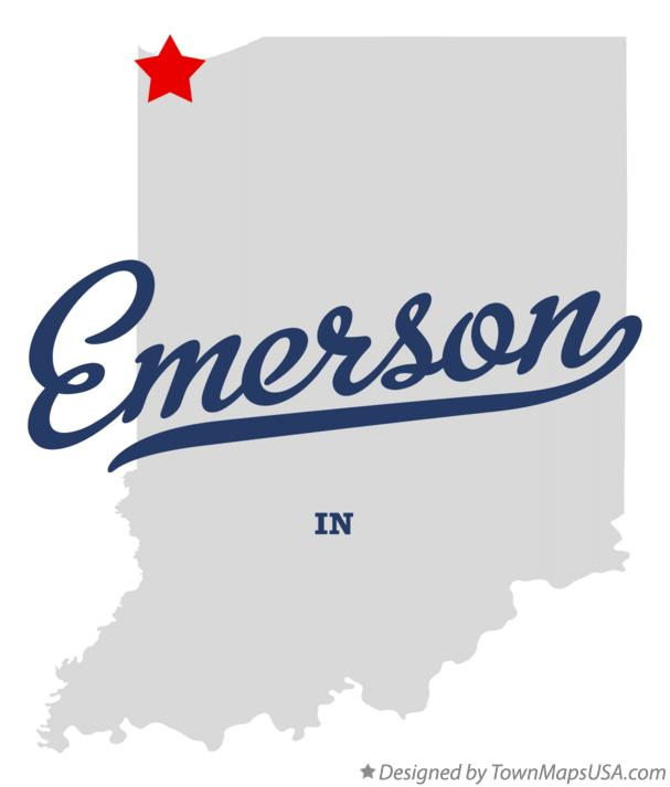 Map of Emerson Indiana IN