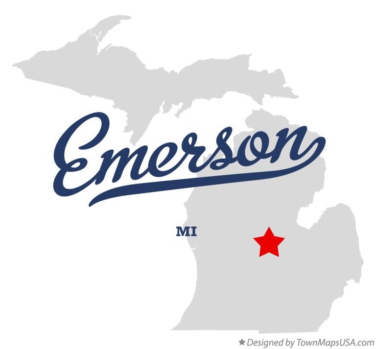 Map of Emerson Michigan MI