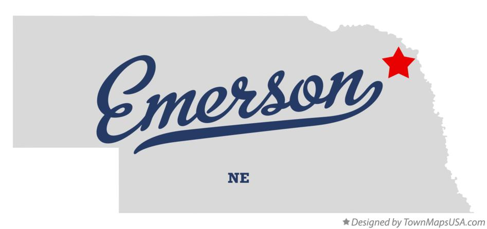 Map of Emerson Nebraska NE