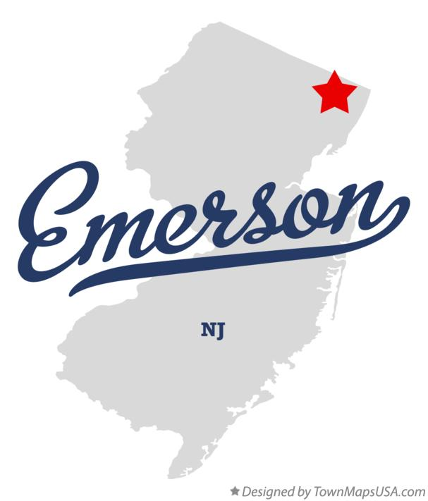 Map of Emerson New Jersey NJ