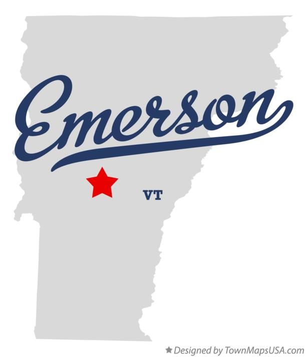 Map of Emerson Vermont VT