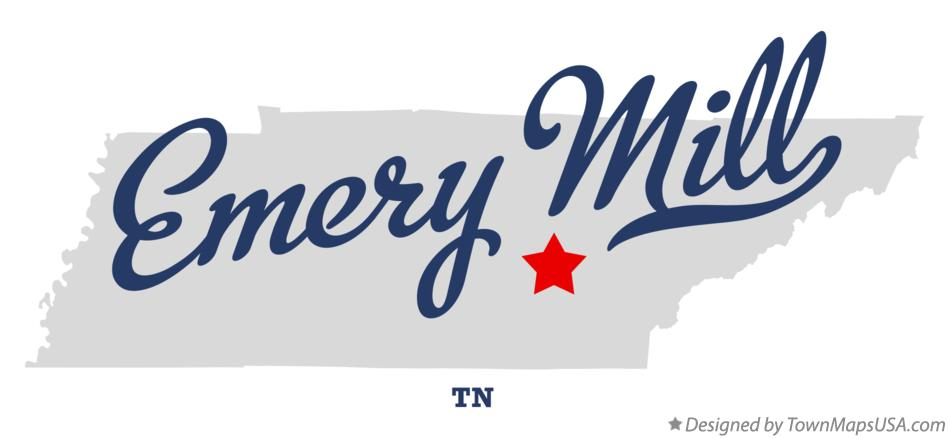 Map of Emery Mill Tennessee TN