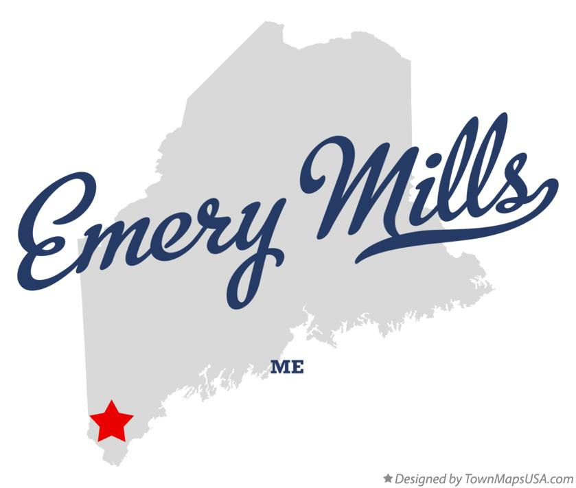 Map of Emery Mills Maine ME