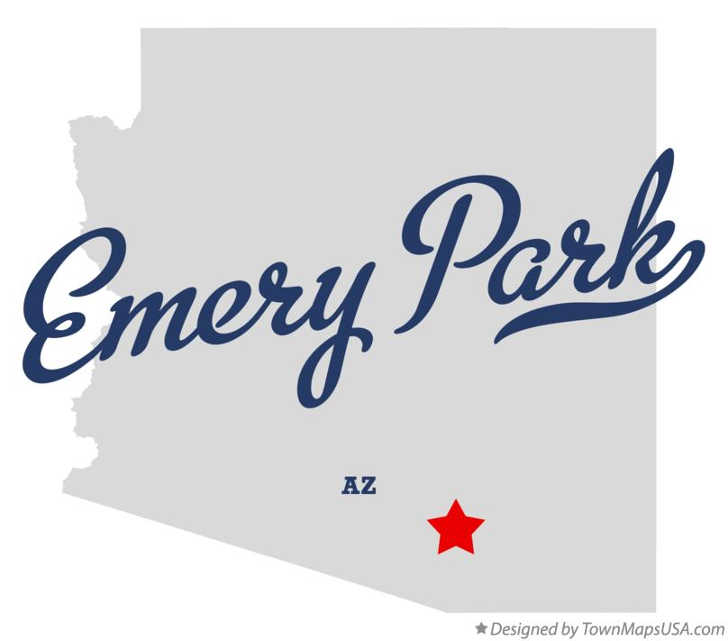 Map of Emery Park Arizona AZ
