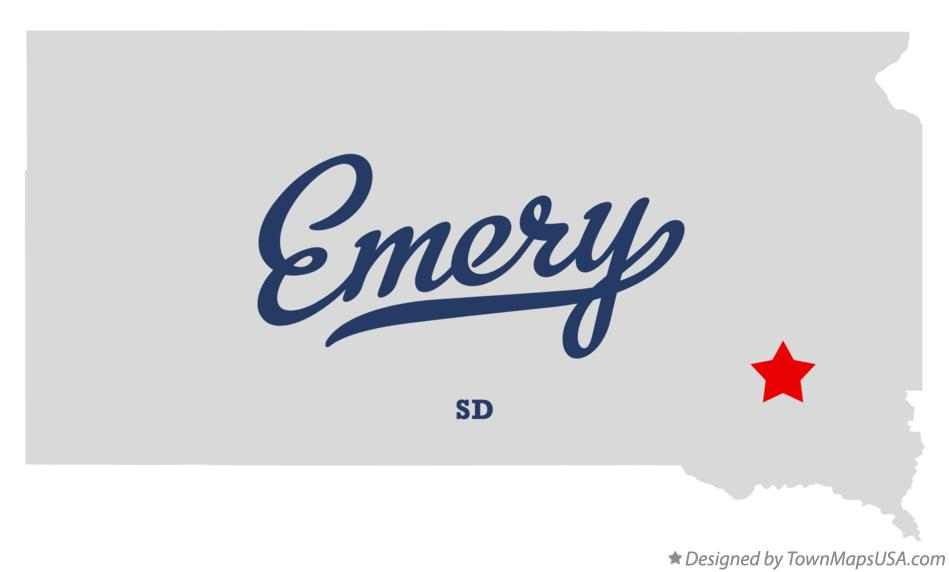 Map of Emery South Dakota SD