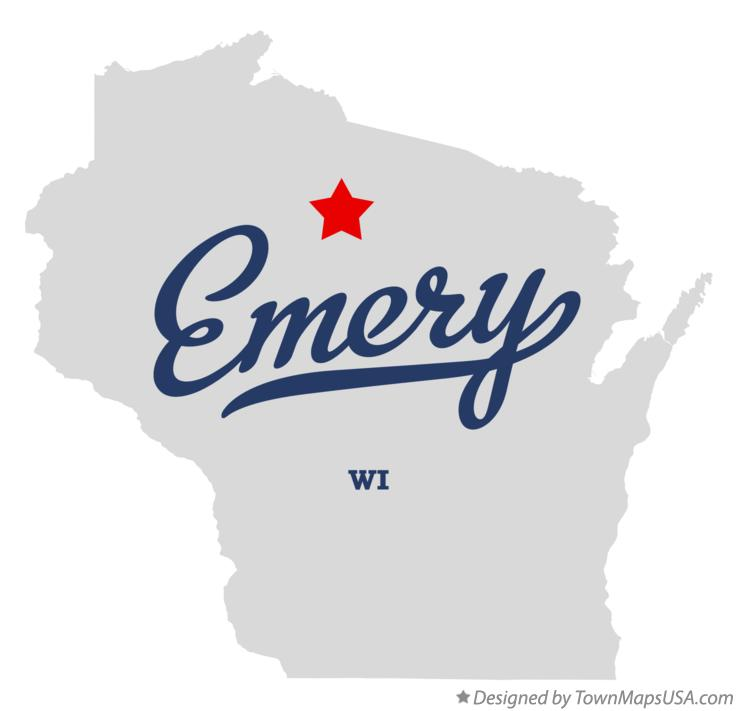 Map of Emery Wisconsin WI