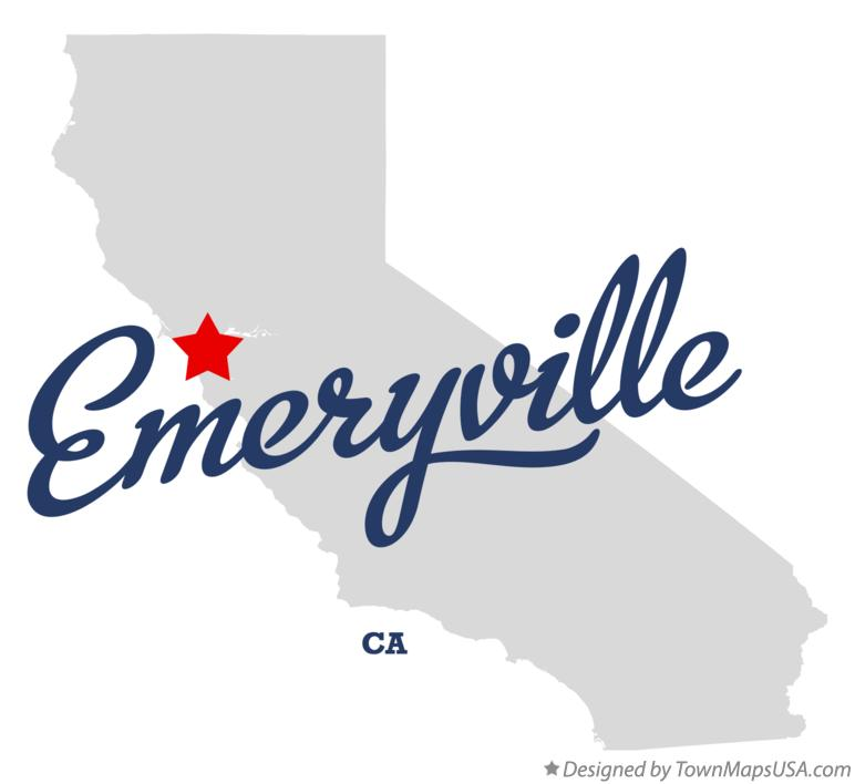 Map of Emeryville California CA