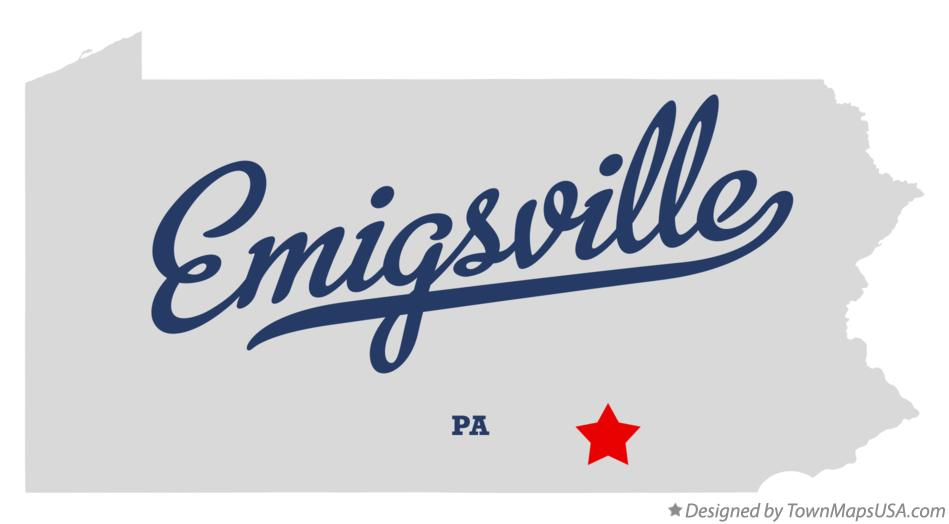 Map of Emigsville Pennsylvania PA