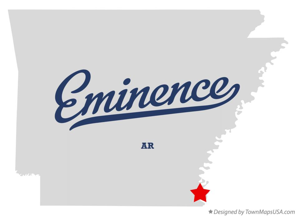 Map of Eminence Arkansas AR
