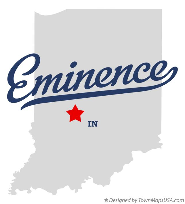 Map of Eminence Indiana IN