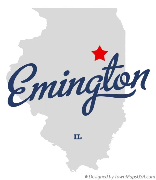 Map of Emington Illinois IL