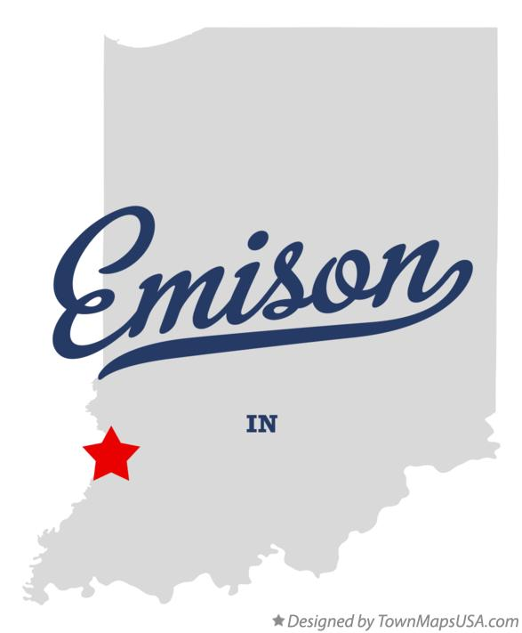 Map of Emison Indiana IN