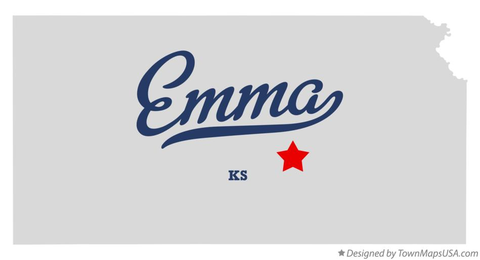 Map of Emma Kansas KS