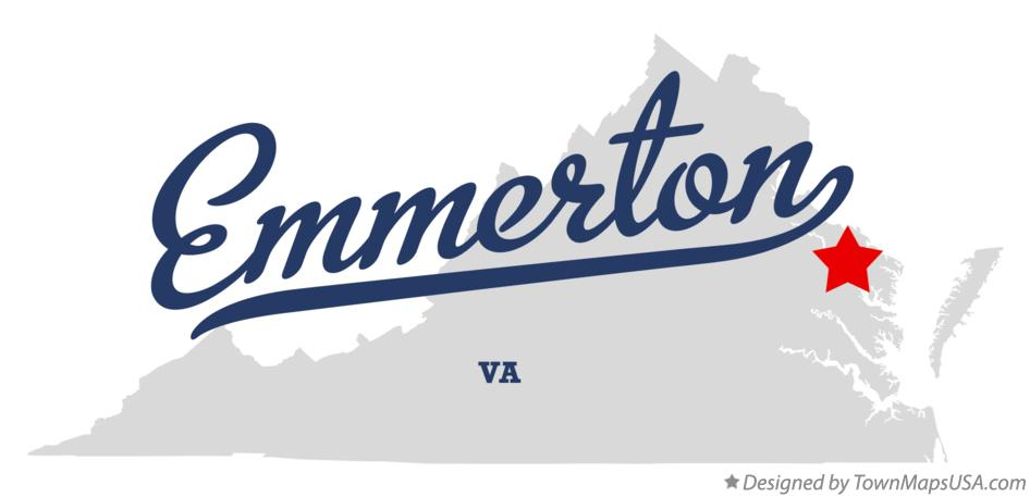 Map of Emmerton Virginia VA