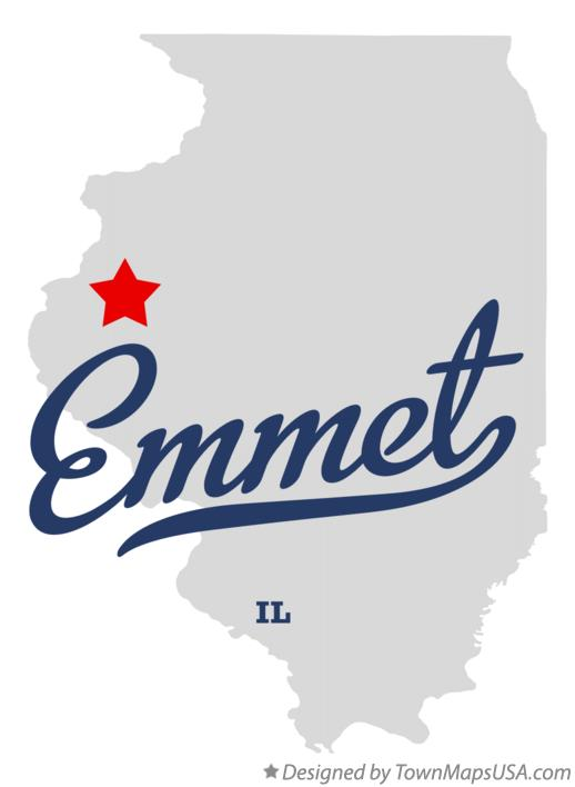 Map of Emmet Illinois IL