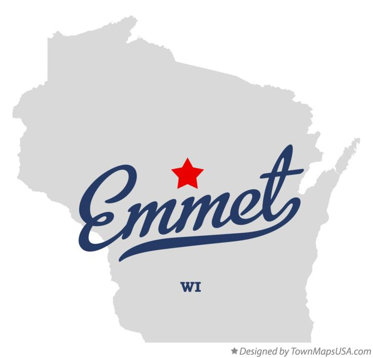 Map of Emmet Wisconsin WI