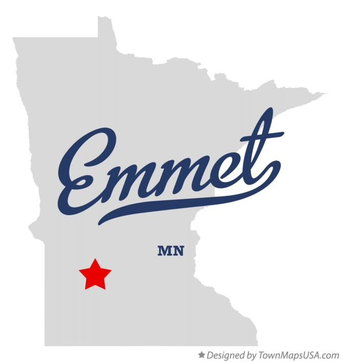 Map of Emmet Minnesota MN