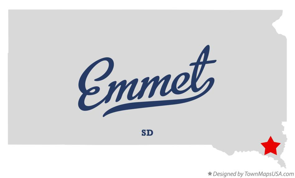 Map of Emmet South Dakota SD