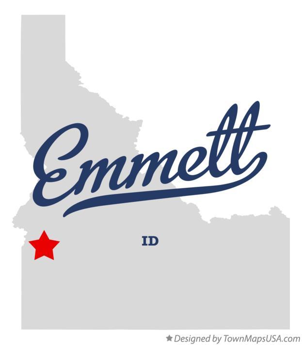 Map Of Emmett Id Idaho