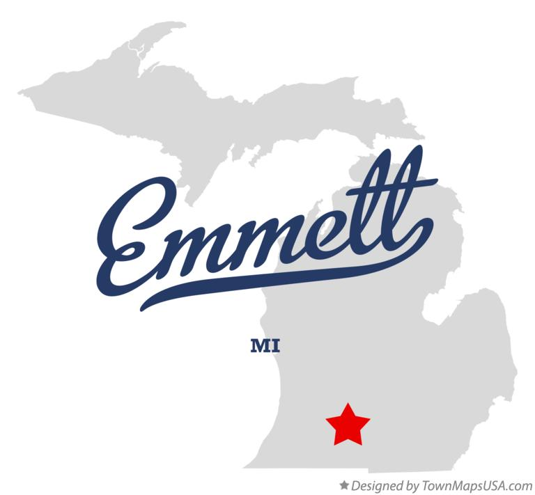 Map of Emmett Michigan MI