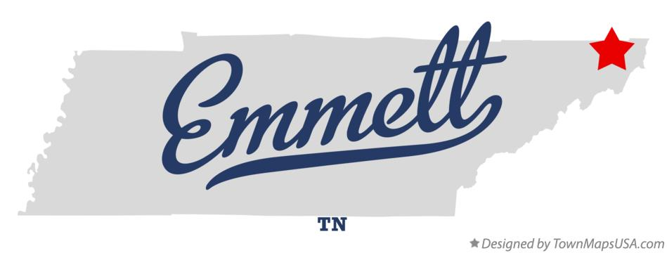 Map of Emmett Tennessee TN