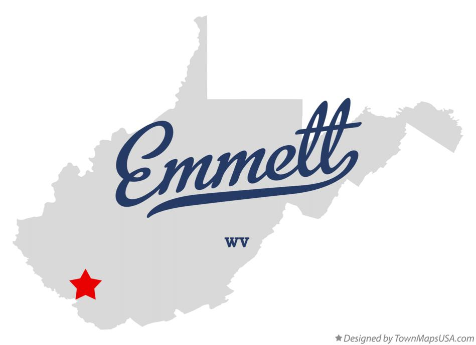 Map of Emmett West Virginia WV