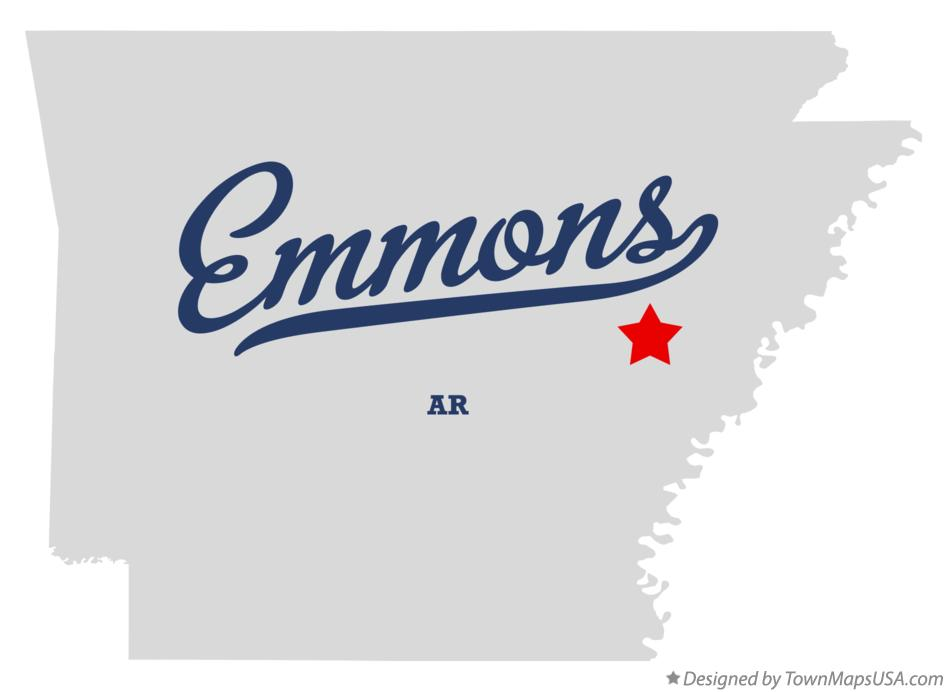 Map of Emmons Arkansas AR