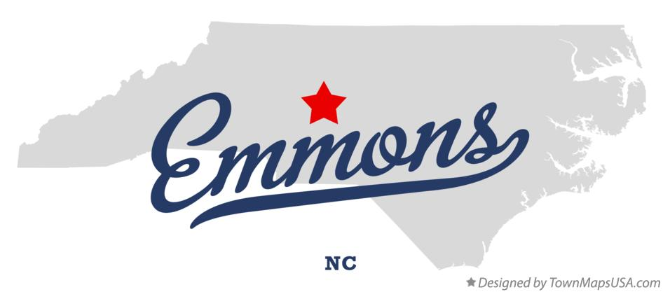 Map of Emmons North Carolina NC
