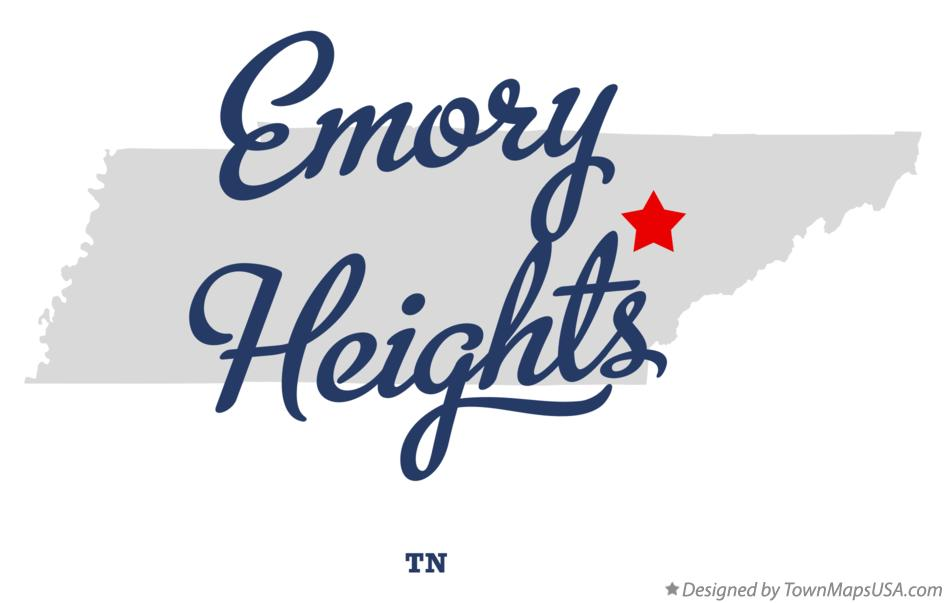 Map of Emory Heights Tennessee TN