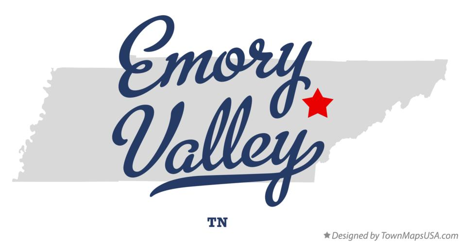 Map of Emory Valley Tennessee TN