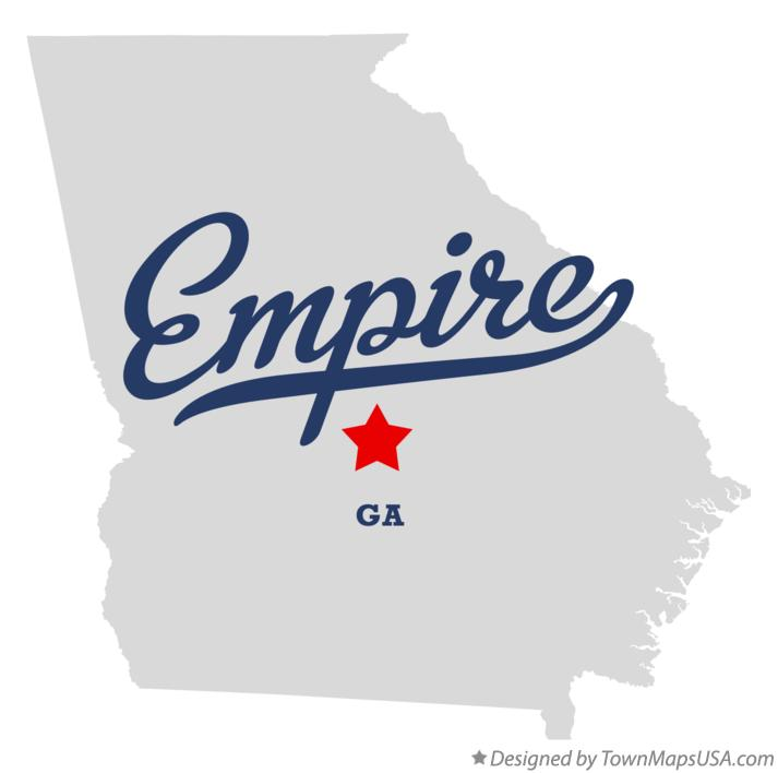Map of Empire Georgia GA