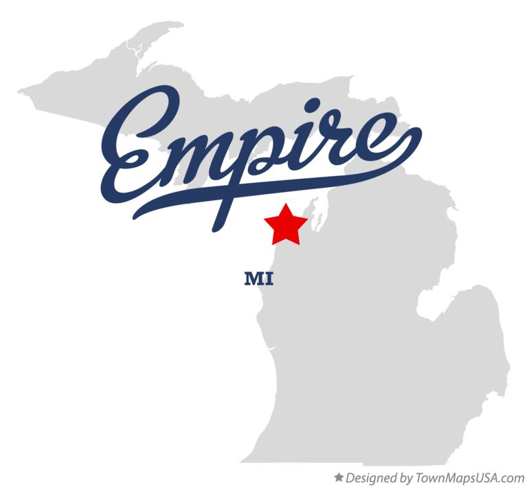 Map of Empire Michigan MI