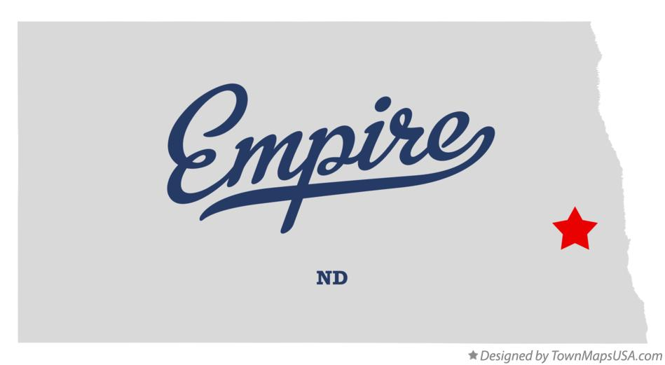 Map of Empire North Dakota ND