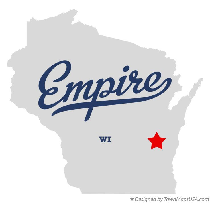 Map of Empire Wisconsin WI