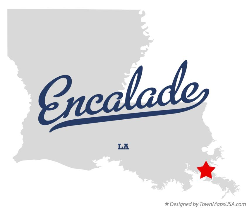 Map of Encalade Louisiana LA